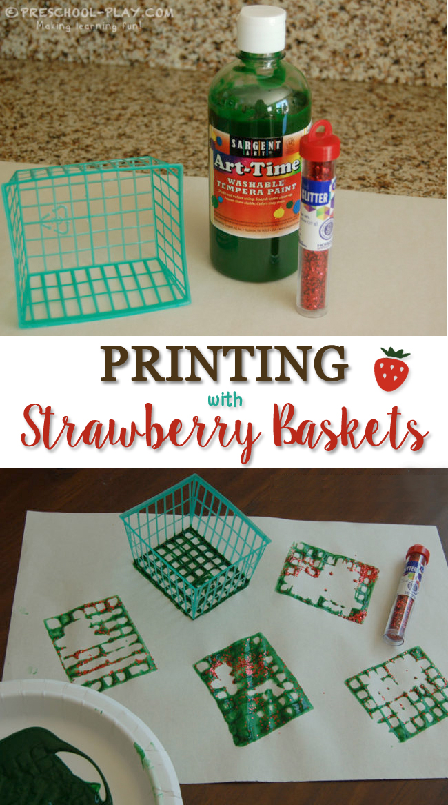 Printing With Strawberry Baskets