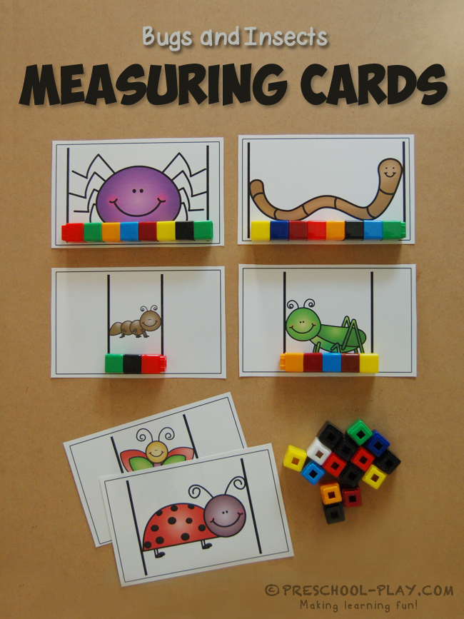 Measuring Bugs And Insects Activity on Farm Animals Theme Preschool