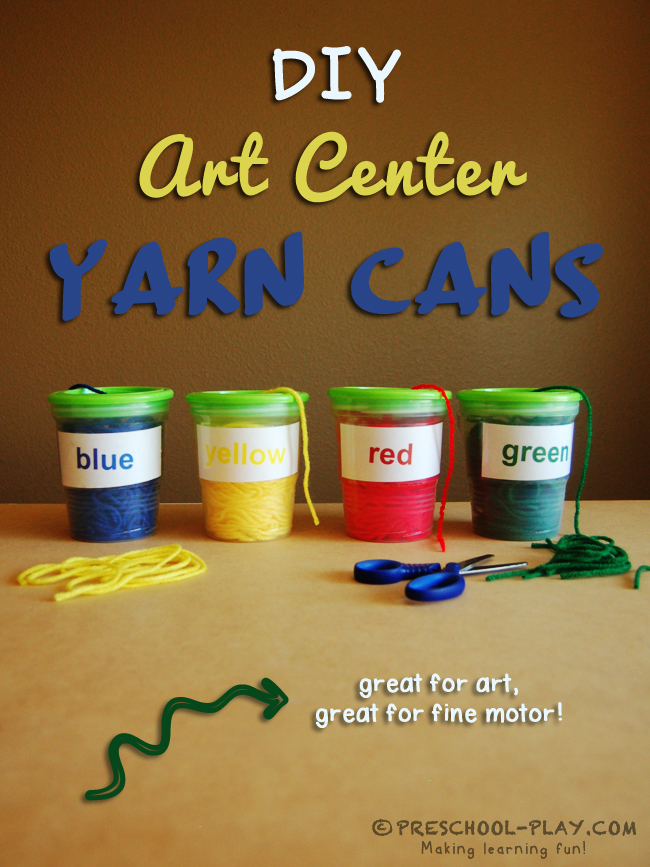 diy art center yarn cans