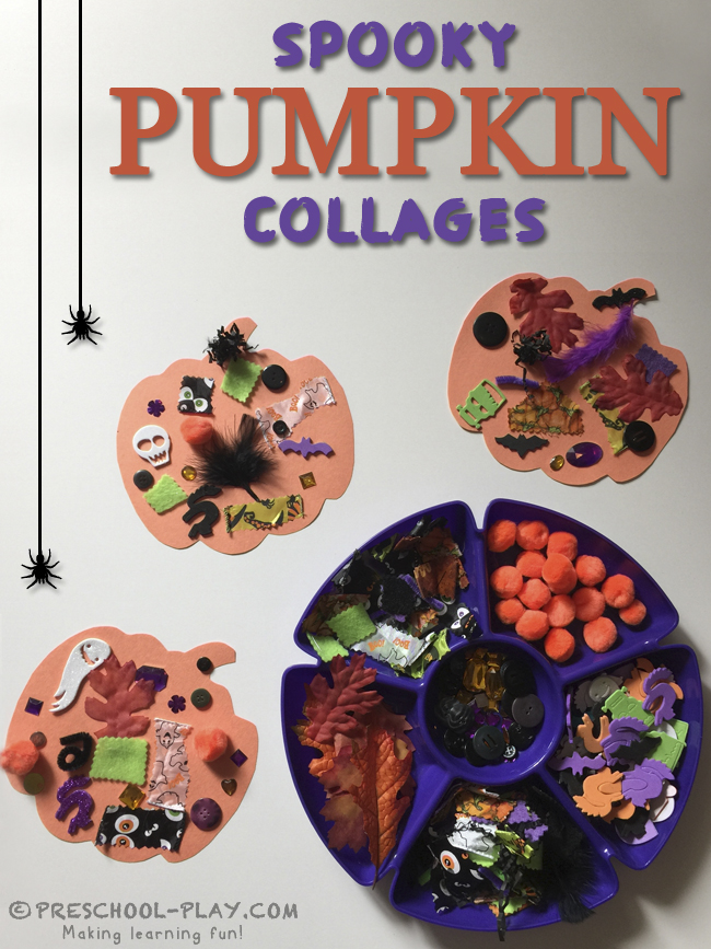 spooky pumpkin collages