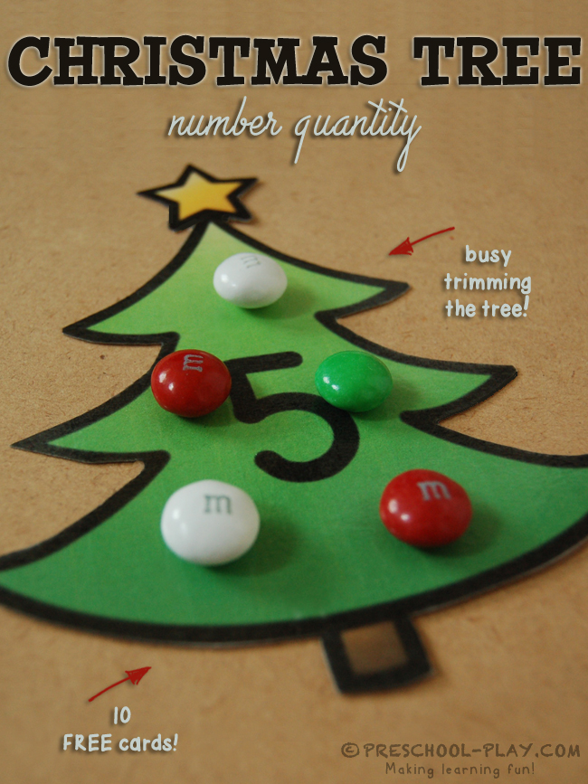 christmas tree number quantity activity
