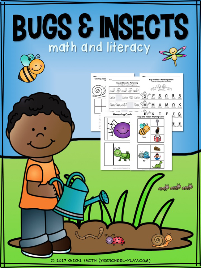 bugs and insect math and literacy activities