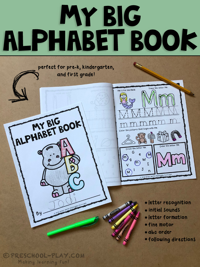 picture about Alphabet Book Printable referred to as Printable Alphabet E book Preschool Enjoy