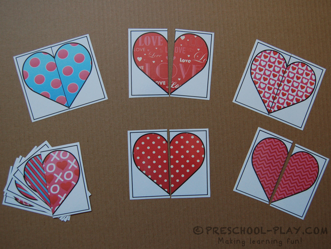 HEART PATTERN PUZZLES COLOR 8 BW