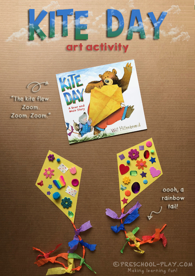 kite crafts for preschool kite day a and mole story activity preschool play 4843